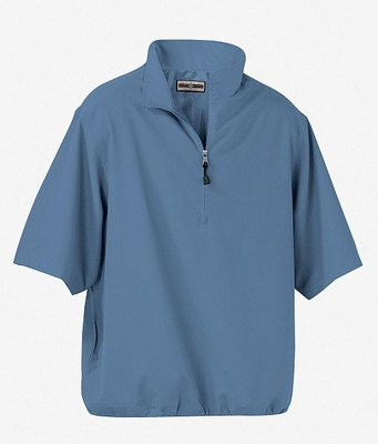 North End Men's Windshirt: Microfiber Teflon Short Sleeve Half-Zip (88084)