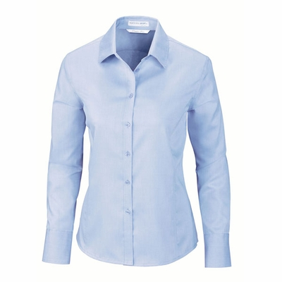 North End Women's Dress Shirt: Cotton Twill Dobby Button Down (78673)