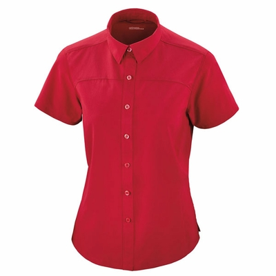 North End Women's Dress Shirt: Short Sleeve Performance Woven Button Down (78675)