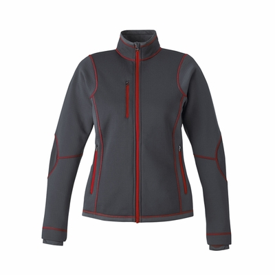 Ladies' Pulse Textured Bonded Fleece Jacket with Print: (78681)