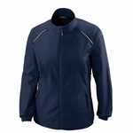 North End Women's Jacket: Full-Zip Lightweight w/ Reflective Piping (78183)