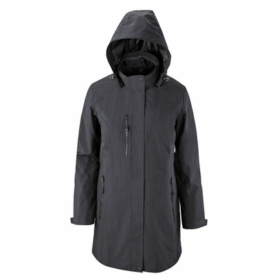 North End Women's Jacket: Lightweight Longer Length w/ Detachable Hood (78670)