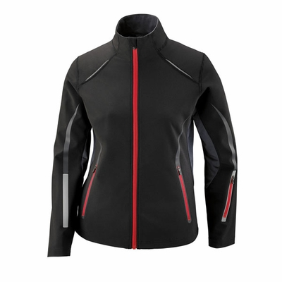 Ladies' Pursuit Three-Layer Light Bonded Hybrid Soft Shell Jacket with Laser Perforation: (78678)