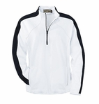 North End Women's Jacket: Raglan Sleeve Half-Zip Double Knit Pullover (78035)