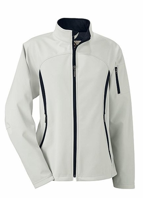 North End Women's Jacket: Water Resistant Performance Brushed Back Soft Shell (78034)