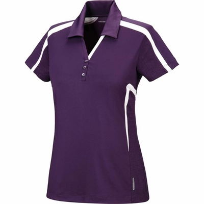 North End Women's Polo Shirt: Moisture Wicking Performance w/ Contrast Inserts (78667)