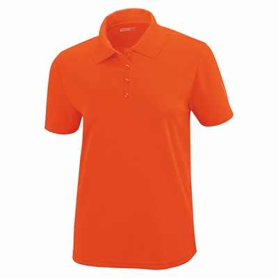 North End Women's Polo Shirt: Origin Short Sleeve Pique Knit (78181)