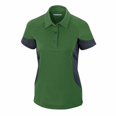 North End Women's Polo Shirt: Performance Jersey w/ Mesh Color Blocking (78677)