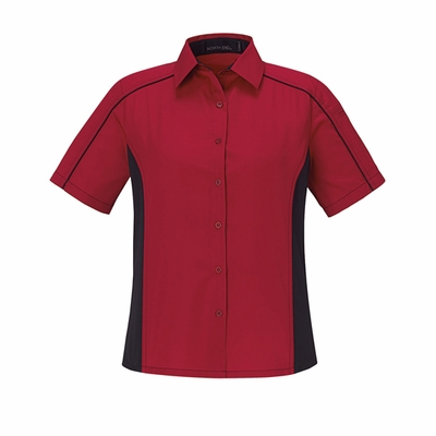 North End Women's Twill Shirt: (77042)