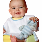 One-2-Wear Infant Bib: 100% Cotton Terry-Velour Coverall (B24)