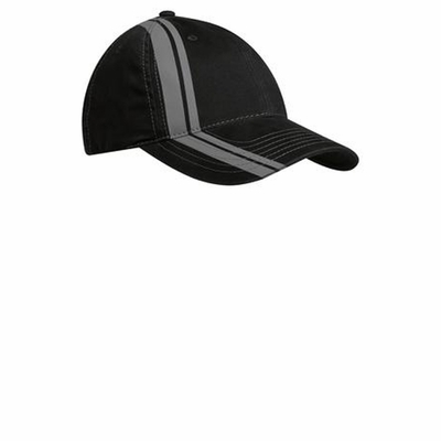 Port Authority Cap: Double Stripe