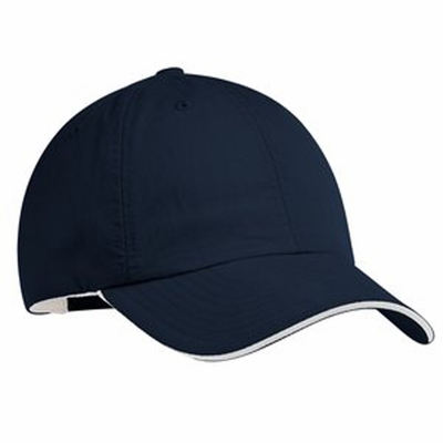 Port Authority Cap: Contrast Sandwich Bill with Quick-Dry Sweatband (C852)