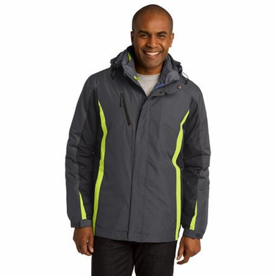 Port Authority Men's Jacket: Color Block 3-in-1 with Zip-Off Hood (J321)