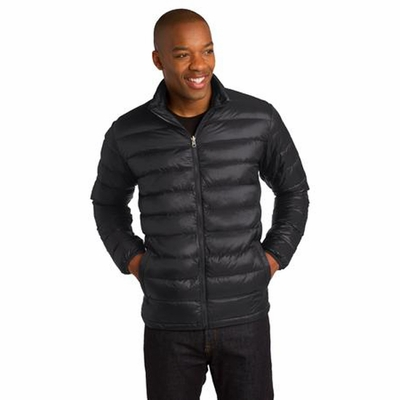 Port Authority Men's Down Jacket: Nylon Shell Insulated Full-Zip (J323)