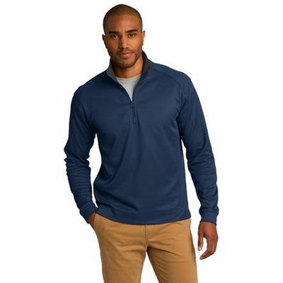 Port Authority Men's Jacket: Vertical Texture 1/4-Zip Pullover (K805)