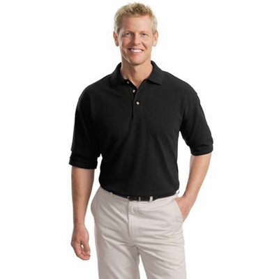 Port Authority Men's Tall Polo Shirt: 100% Cotton Pique Knit (TLK420)