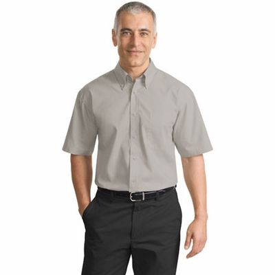 Port Authority Men's Poplin Shirt: Short Sleeve Value (S633)