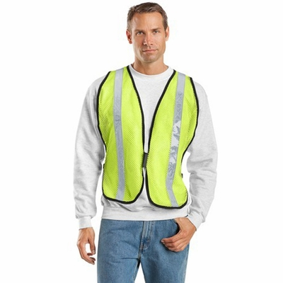 Port Authority Men's Safety Vest: Mesh Reflective Contrast Non-ANSI (SV02)