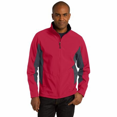 Port Authority Men's Soft Shell Jacket: Waterproof Core Color Block (J318)