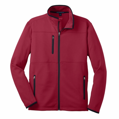 Port Authority Men's Tall Fleece Jacket: Pique Pocketed Full-Zip (TLF222)