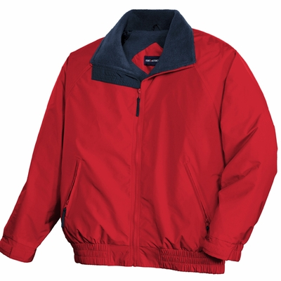 Port Authority Men's Tall Jacket: Competitor Fleece Lined with Zippered Pockets (TLJP54)