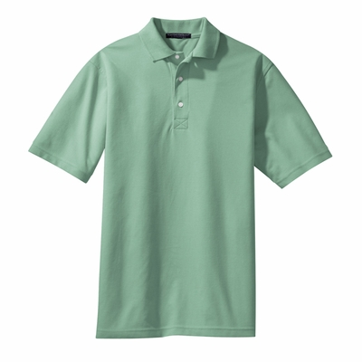 Port Authority Men's Tall Polo Shirt: 5.6 oz. Cotton Blend Pique Rapid Dry (TLK455)
