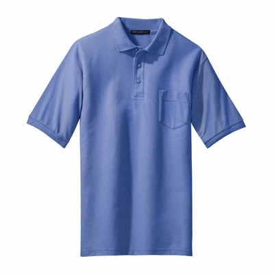 Port Authority Men's Tall Polo Shirt: Poly Blend Pique Silk Touch Pocketed (TLK500P)