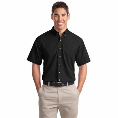 Port Authority Men's Twill Shirt: 100% Cotton Short Sleeve (S500T)