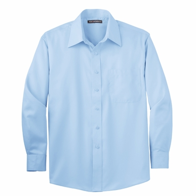 Port Authority Men's Twill Shirt: 100% Cotton Non-Iron Long Sleeve (TLS638)
