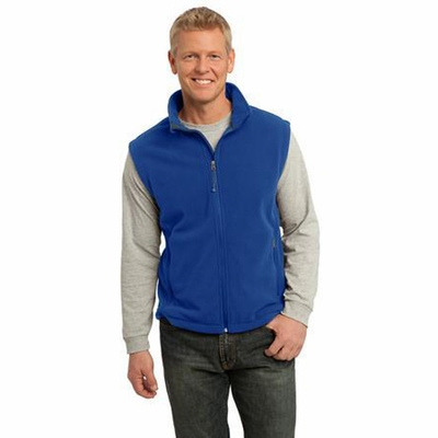 Port Authority Men's Vest: Full-Zip Value Super Soft Fleece (F219)