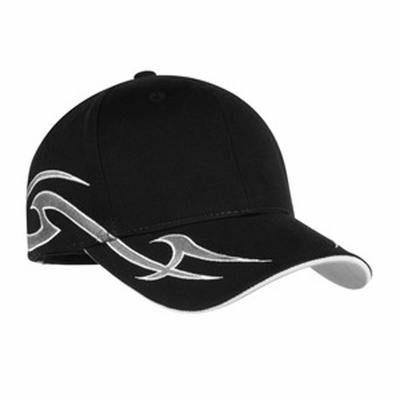 Port Authority Racing Cap: 100% Cotton Sickle Flames (C878)