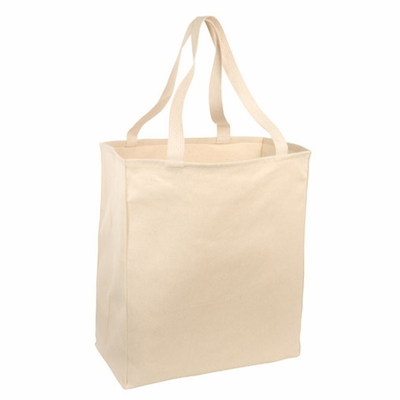 Port Authority Shopping Bag: 100% Cotton Twill Over-The-Shoulder Grocery (B110)