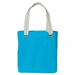 Port Authority Tote Bag: 100% Cotton Allie Striped Handles (B118)