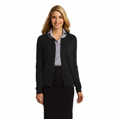 Port Authority Women's Cardigan: Cotton Blend 8-Button (LSW287)