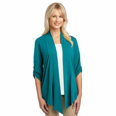 Port Authority Women's Cardigan Wrap: Shawl Collared Shrug (L543)