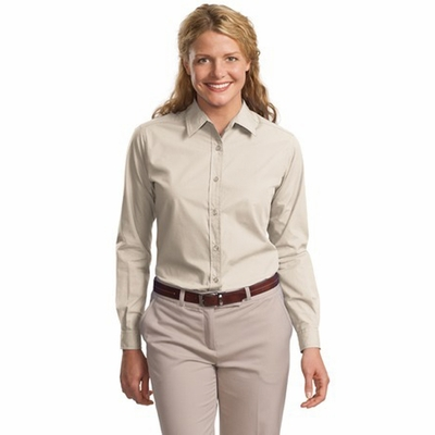 Port Authority Women's Dress Shirt: Easy Care Woven Long Sleeve (L607)
