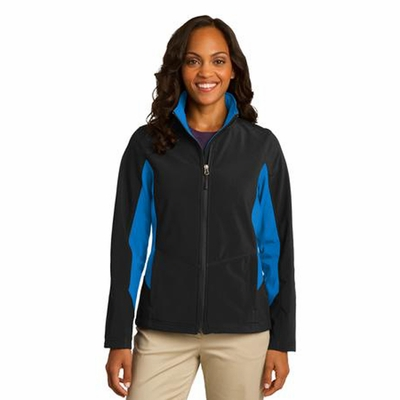 Port Authority Women's Soft Shell Jacket: Color Block Core Full-Zip (L318)