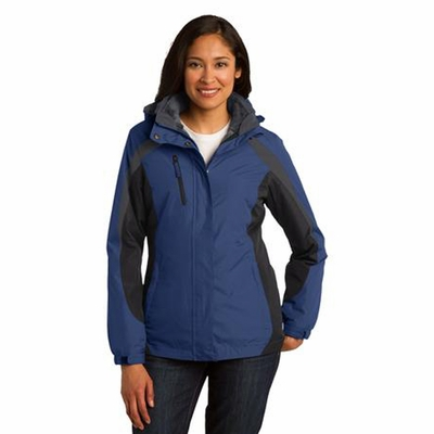 Port Authority Women's Jacket: Color Block 3-in-1 with Zip-Off Hood (L321)