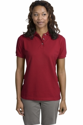 Port Authority Women's Polo Shirt: 100% Cotton Pique Garment Washed (L420)