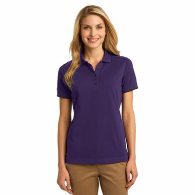 Port Authority Women's Polo Shirt: Rapid Dry Tipped Y-Placket (L454)