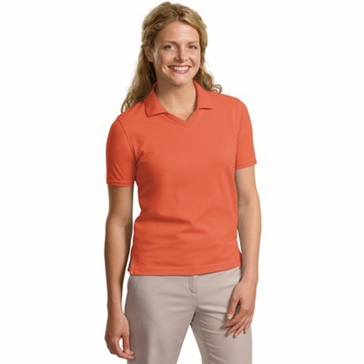 Port Authority Women's Polo Shirt: Cotton Blend Rapid Dry Crossover V-Neck  (L455)