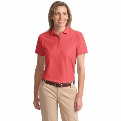 Port Authority Women's Polo Shirt: Poly Blend Pique Silk Touch (L500)