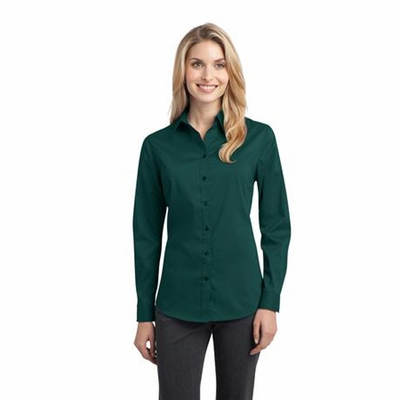 Port Authority Women's Poplin Shirt: Stretch