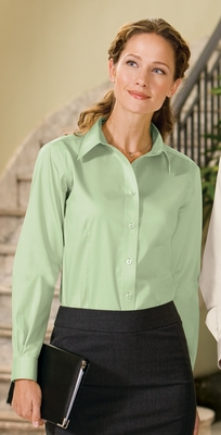 Port Authority Women's Twill Shirt: 100% Cotton Long Sleeve Non-Iron (L638)