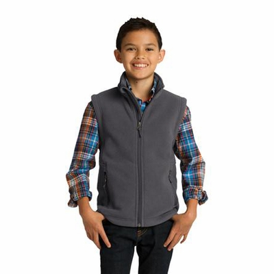 Port Authority Youth Fleece Vest: Value Pocketed Full-Zip (Y219)