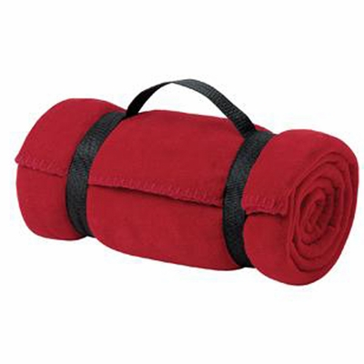 Port & Company Blanket: Fleece Value Throw with Strap (BP10)