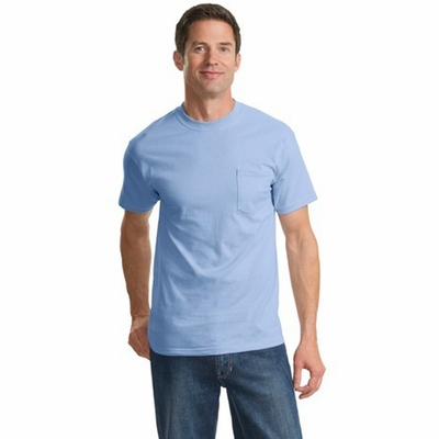 Port & Company Men's T-Shirt: 100% Cotton with Pocket (PC61P)
