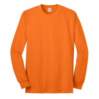 Port & Company� Men's Tall Long Sleeve 50/50 Cotton/Poly T-Shirt: (PC55LST)