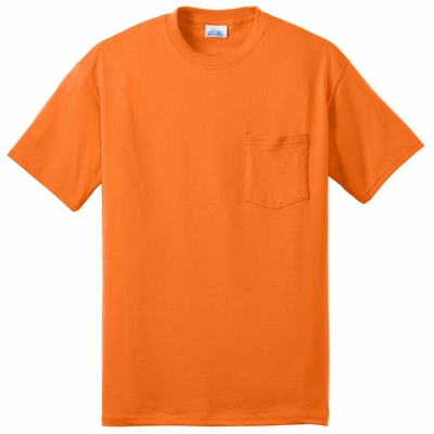 Port & Company� Men's  Tall 50/50 Cotton/Poly T-Shirt with Pocket : (PC55PT)