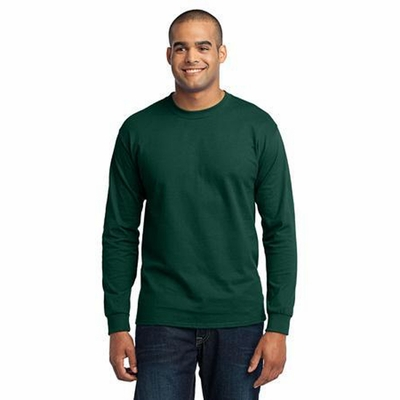 Port & Company Mens T-Shirt: Long Sleeve 50/50(PC55LS)